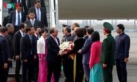 阮春福抵达新德里开始出席东盟和印度峰会