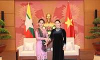 阮氏金银会见缅甸国务资政昂山素季