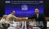 韩美一致同意维持对朝鲜的制裁