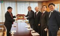 本台台长阮世纪与日本执政党LDP领导人举行会谈
