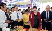 越南国会主席阮氏金银出席2019年芹苴国际旅游博览会开幕式