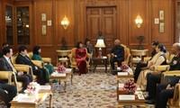 越南国家副主席邓氏玉盛会见印度总统拉姆·纳特·科温德