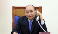 越南政府总理阮春福与印度总理通电话