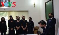 原越共中央总书记黎可漂吊唁仪式在越南驻印度和韩国大使馆举行