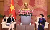 阮氏金银会见即将卸任前来辞行拜会的各国驻越大使