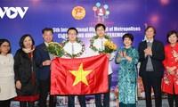 河内学生在IOM奥林匹克竞赛上夺得5枚金牌