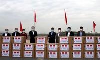 中国广西壮族自治区向越南广宁省赠送防疫物质
