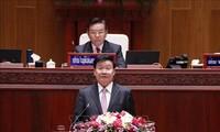 越南领导人向老挝领导人致贺电