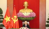 越共中央总书记阮富仲与斯里兰卡总统通电话