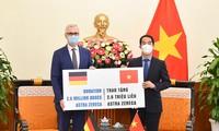 接收德国政府援助的260万剂阿斯利康疫苗