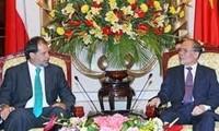 Staatspräsident und Parlamentspräsident treffen Senatspräsident aus Chile
