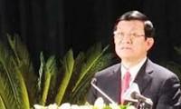 Staatspräsident Truong Tan Sang tagt mit der Zentralkommission für Justizreform