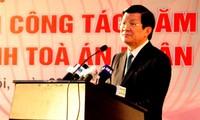 Staatspräsident Truong Tan Sang leitet Justizkonferenz