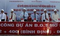 Baustart der Nationalstraße Nummer 1A bei Binh Dinh