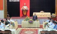 General Tran Dai Quang besucht Quang Binh