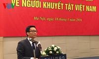 Vizepremierminister Vu Duc Dam nimmt an Gründung der Kommission für Menschen mit Behinderungen teil