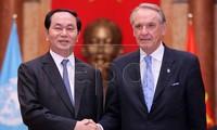 Staatspräsident Tran Dai Quang empfängt stellvertretenden UN-Generalsekretär
