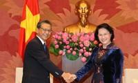 Parlamentspräsidentin Nguyen Thi Kim Ngan empfängt Botschafter aus Russland, Japan und Kuba