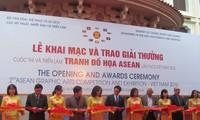 Eröffnung der Ausstellung Grafikdesign der ASEAN
