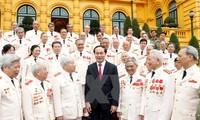 Staatspräsident Tran Dai Quang empfängt Vertreter der Polizei im Vietnamkrieg