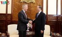 Staatspräsident Tran Dai Quang empfängt US-Botschafter in Vietnam