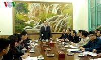 Staatspräsident Tran Dai Quang führt Gespräche mit Zentralkommission zur Justizreform