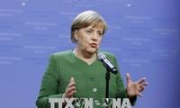Bundeskanzlerin Angela Merkel ist für große Koalition