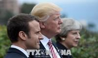 Presiden Donadl Trump melakukan pembicaraan telepon dengan pimpinan Inggris dan Perancis