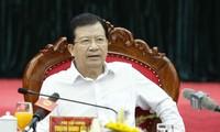 Vizepremierminister Trinh Dinh Dung: keine Unaufmerksamkeit bei Naturkatastrophen