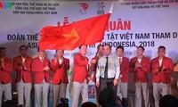 Vietnamesische Sportler mit Behinderungen nehmen am Asien-Sportfestival in Indonesien teil