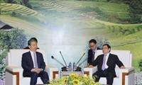 Pham Minh Chinh empfängt Leiter der Kontrollabteilung der KP-Chinas Zhao Leji