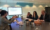 Delegation der Zentralabteilung der Partei für Information und Erziehung in Holland