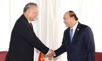 Premierminister Nguyen Xuan Phuc empfängt Vorsitzenden der Industrie und Handelskammer Indonesiens