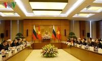 Aktivitäten des russischen Duma-Präsidenten Wjatscheslaw Wiktorowitsch Wolodin in Vietnam