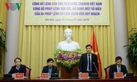 Veröffentlichung des Befehls des Staatspräsidenten zur Änderung und Ergänzung der Verordnung über die Planung
