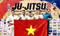 Vietnam erringt eine Goldmedaille in Kampfsportart Ju-Jitsu in Thailand