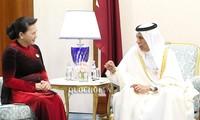 Parlamentspräsidentin Nguyen Thi Kim Ngan trifft Vorsitzenden der Beratenden Versammlung von Katar