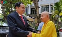 Vorsitzende der vaterländischen Front Vietnams gratuliert zum Vesak in Thua Thien-Hue