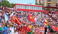 Fußballfreundschaftsspiel der Junioren in Russland