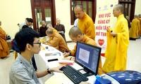Mönche und Buddhistenanhänger wollen Blut und Organe spenden