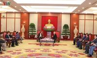 KPV-Generalsekretär, Staatspräsident Nguyen Phu Trong empfängt seinen laotischen Amtskollegen Bounnhang Vorachith