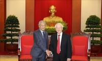 KPV-Generalsekretär, Staatspräsident Nguyen Phu Trong empfängt malaysischen Premierminister