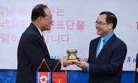 Verstärkung der Zusammenarbeit zwischen Gewerkschaften Nordkoreas und Vietnams
