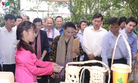 Parlamentspräsidentin Nguyen Thi Kim Ngan besucht Modell von Genossenschaft in Dong Thap