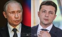 Präsidenten Russlands und der Ukraine diskutierten über Friedendialoge