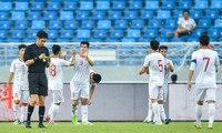 U22-Fußballmannschaft Vietnams siegt gegen U22-Fußballmannschaft Chinas