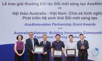 Verleihung der Preise von innovativen und kreativen Partnern Aus4Innovation