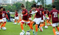 Die vietnamesische Frauenfußballmannschaft der U19 nimmt an der Finalrunde der Asienmeisterschaft in Thailand teil