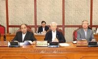 KPV-Generalsekretär, Staatspräsident Nguyen Phu Trong leitet Sitzung des Politbüros