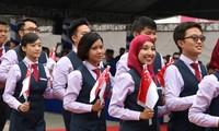 Schiff der Jugendlichen aus Südostasien und Japan ist nach Vietnam gekommen